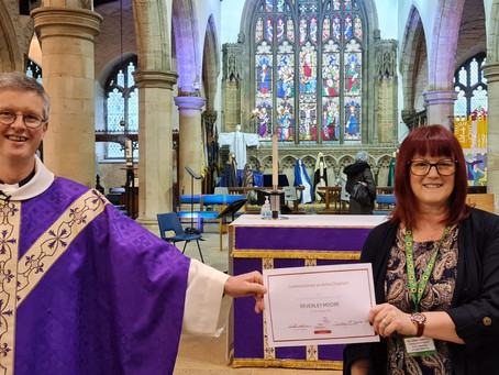 Beverley Moore commissioned as first Anna Chaplain in Cumbria