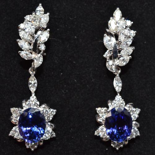 Blue Stone Diamond Earring Appraisal