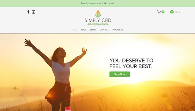 Simply CBD Website Design