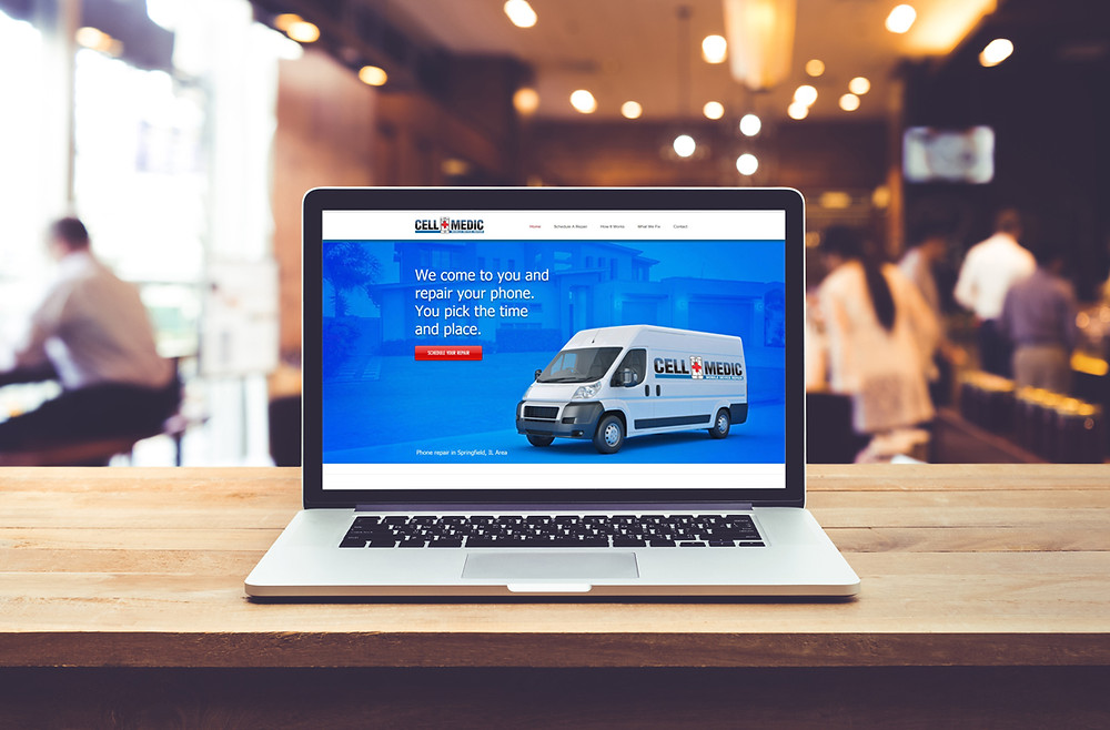 Website Design in Springfield IL for Cell Medic