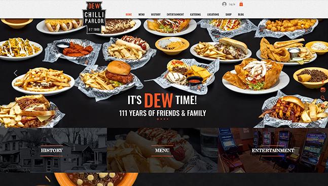 Dew Chilli Website Design Springfield IL