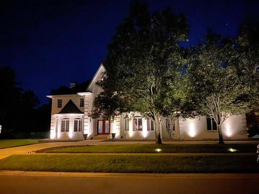 New Exterior Uplighting & Deck Lighting