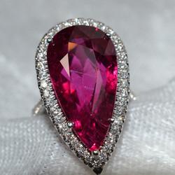 Pink Stone Diamond Ring Appraisal