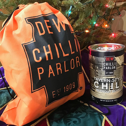 DEW Chilli Family Size Can (x1) w/ Gift Tote Bag