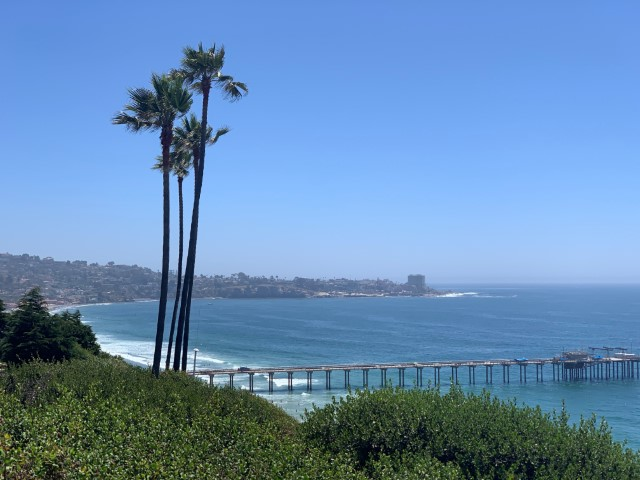 view of Scripps Pier, La Jolla Shores