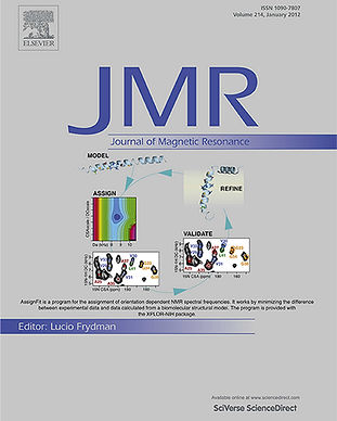 """Journal of Magnetic Resonance"" cover; simultaneous NMR assignment and structure refinement"