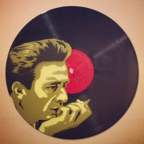 Johnny Cash on Wax