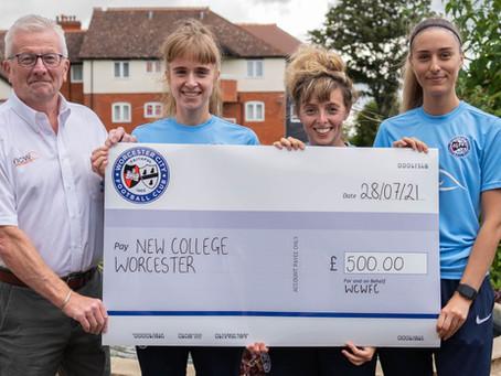 Worcester City Women FC raise £500 for partner NCW