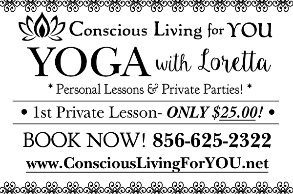 Yoga w Loretta Private Lesson Promo B_W-