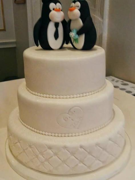 Penguin Wedding Cake