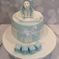Grey Elephant Wide Stripe Blue