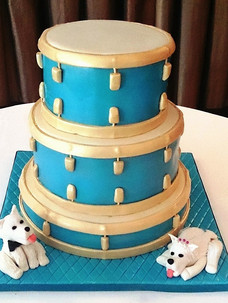 Drum Kit Wedding cake