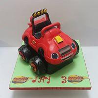 Monster Trucks Cake