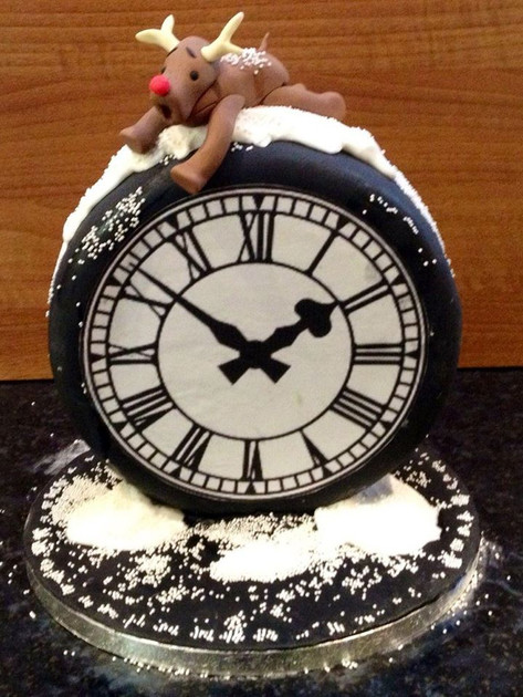 Clock Christmas Cake