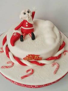 Santa Candycane Cake