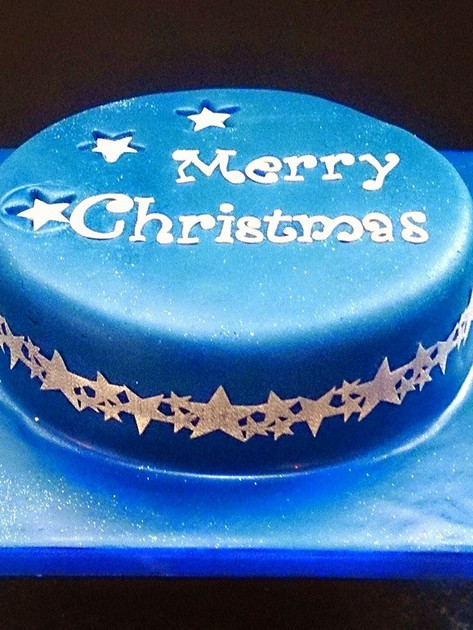 Blue Traditional Cake