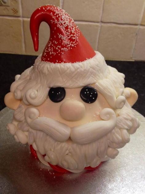 Santa Head Cake