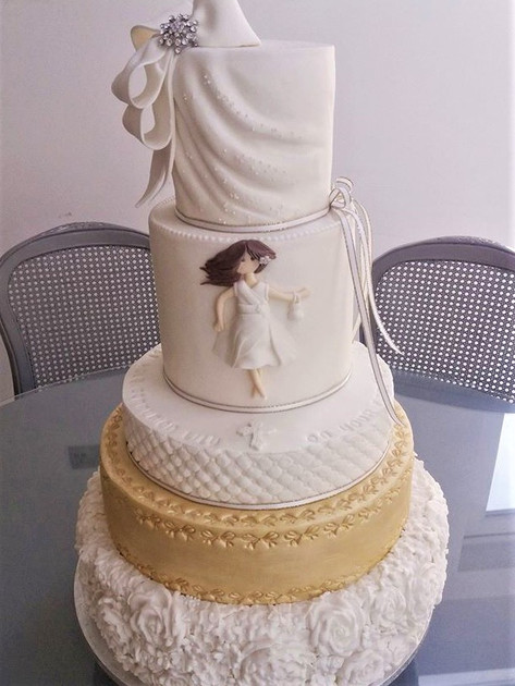 Lily Marie Communion Cake