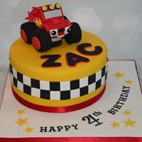 Monster Truck Checkered Flag Cake