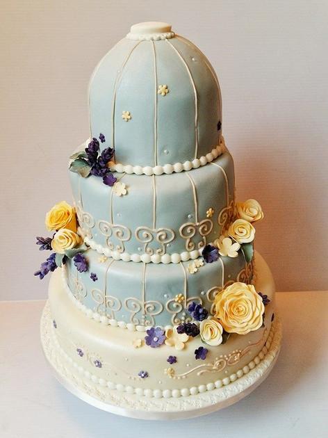 Bird Cage Wedding Cake
