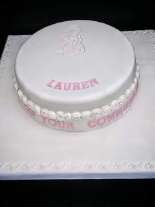 Lauren White Communion Cake