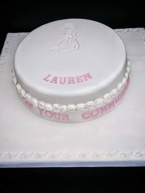 Lauren White Communion Cake