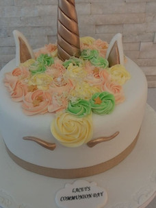 Lacey Communion Cake