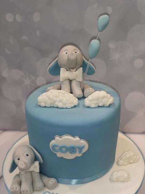 Blue Cloud Cake