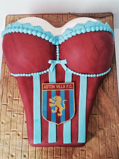 Bustier Football Cake