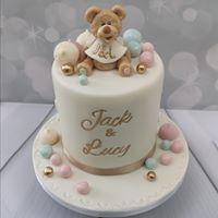 Initial Teddy Cake
