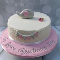 Grey Elephant Beaded Cake