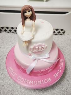Lily Communion Cake