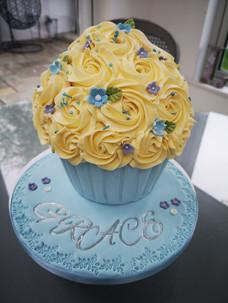 Blue Giant Cupcake