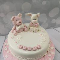 Teddy & Bunny Cake Pink