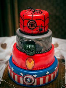 Super Hero Wedding Cake