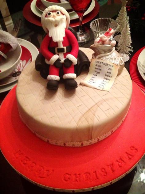 Santa Figure Cake