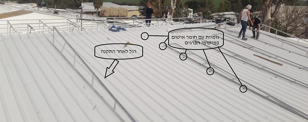 תשתית למערכת סולארית - גג איסכורית