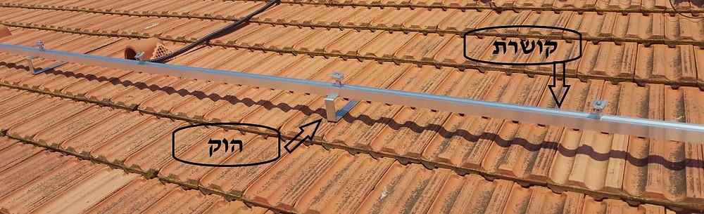 תשתית למערכת סולארית - גג רעפים