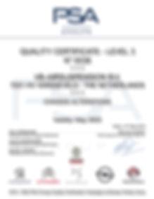 Сертификат на пневмоподвеску VB-Airsuspension для Peugeot Citroёn