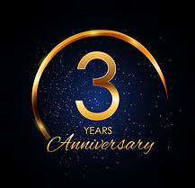 template-logo-3-year-anniversary-vector-