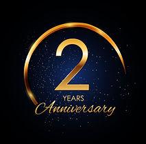 template-logo-2-year-anniversary-vector-