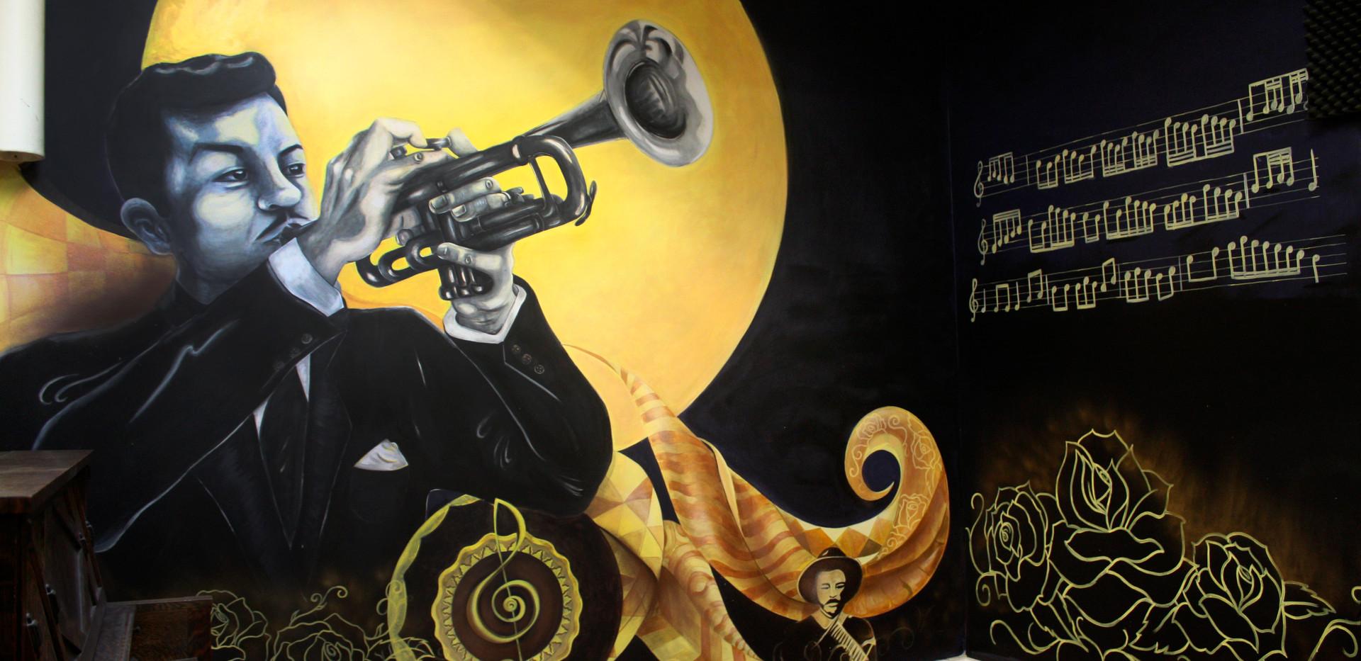 Rafael Mendez Mural , 7.5 X10 m Acrylic