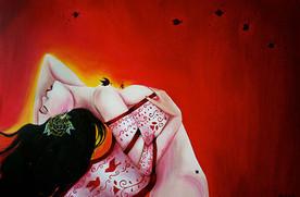 la-muerte-chiquita 24x30 Oil on Canvas