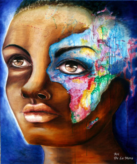 Africa 29x35 inch Oil on Canvas