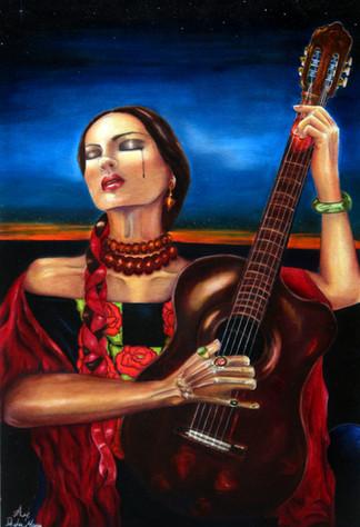 Llorona 35x24 inch. Oil on canvas