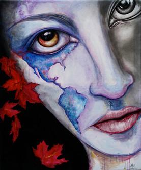 America 36x24 Oil on Canvas 2015