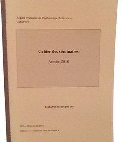 SFAP-SO_cahiers_des_seminaires, adler, psy