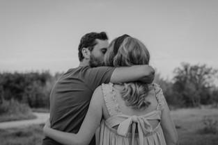 Verliebtes Paar in Fröttmaninger Heide