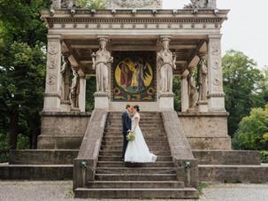 Sommerliche Hochzeit in alter Villa in München