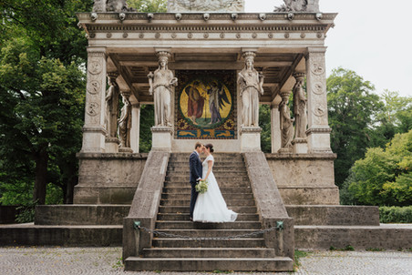 Sommerliche Hochzeit in alter Villa inMünchen
